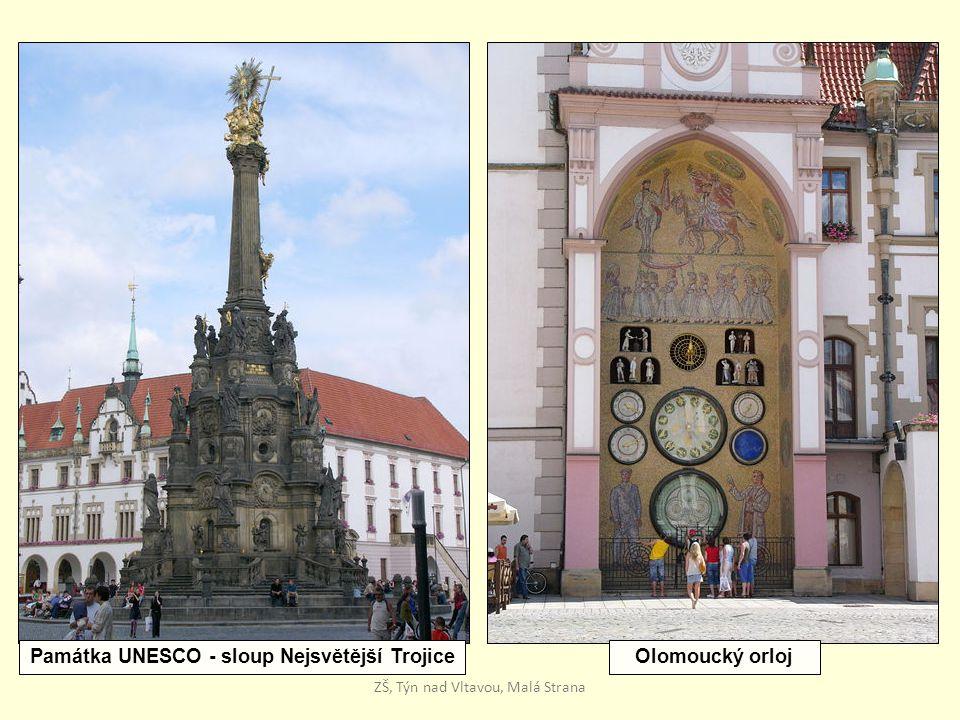 Památka UNESCO - sloup Nejsvětější Trojice