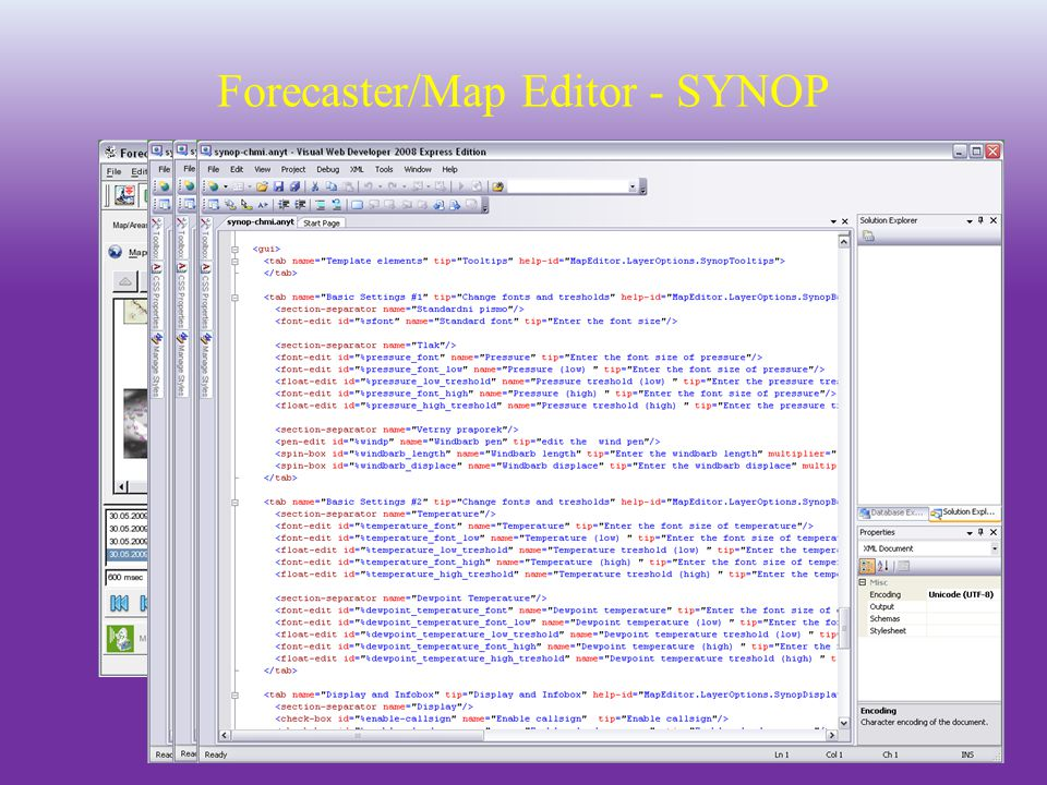Forecaster/Map Editor - SYNOP