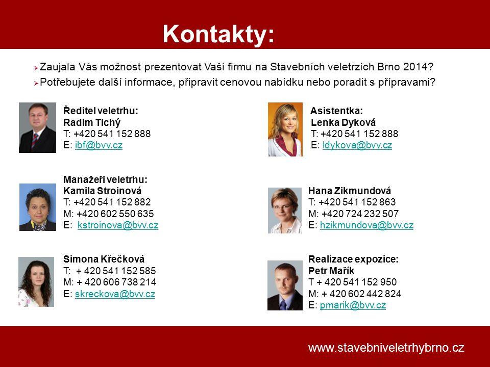 Kontakty: www.stavebniveletrhybrno.cz