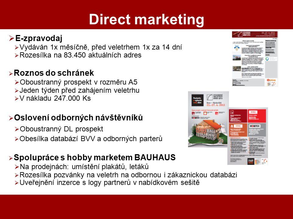 Direct marketing E-zpravodaj Oboustranný prospekt v rozměru A5