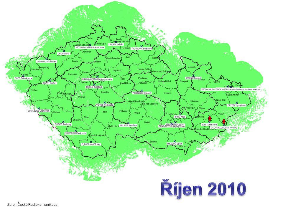 Říjen 2010 Zdroj: České Radiokomunikace
