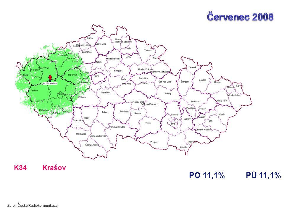 Červenec 2008 PO 11,1% PÚ 11,1% K34 Krašov