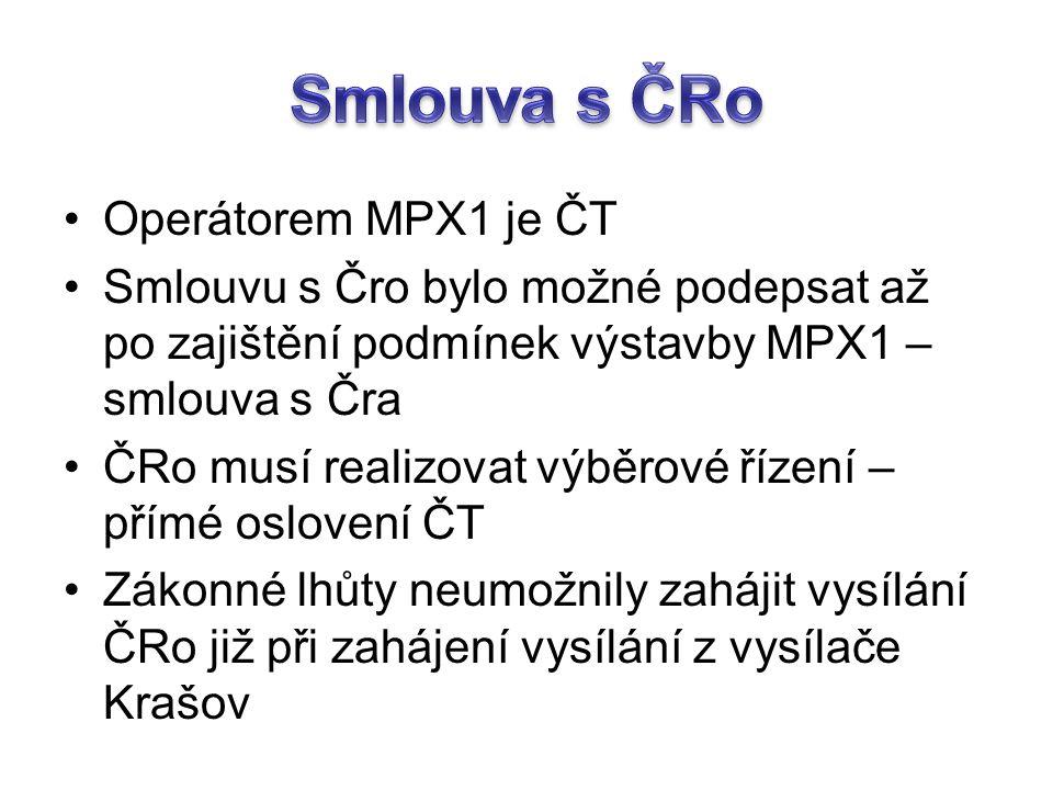 Smlouva s ČRo Operátorem MPX1 je ČT