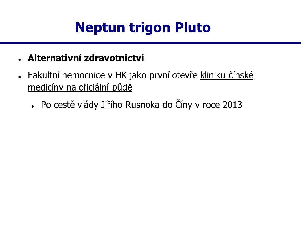 Neptun trigon Pluto Alternativní zdravotnictví