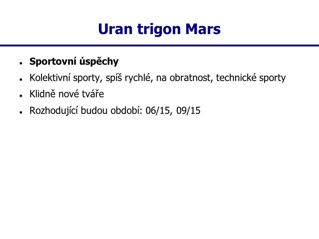 Uran trigon Mars Sportovní úspěchy