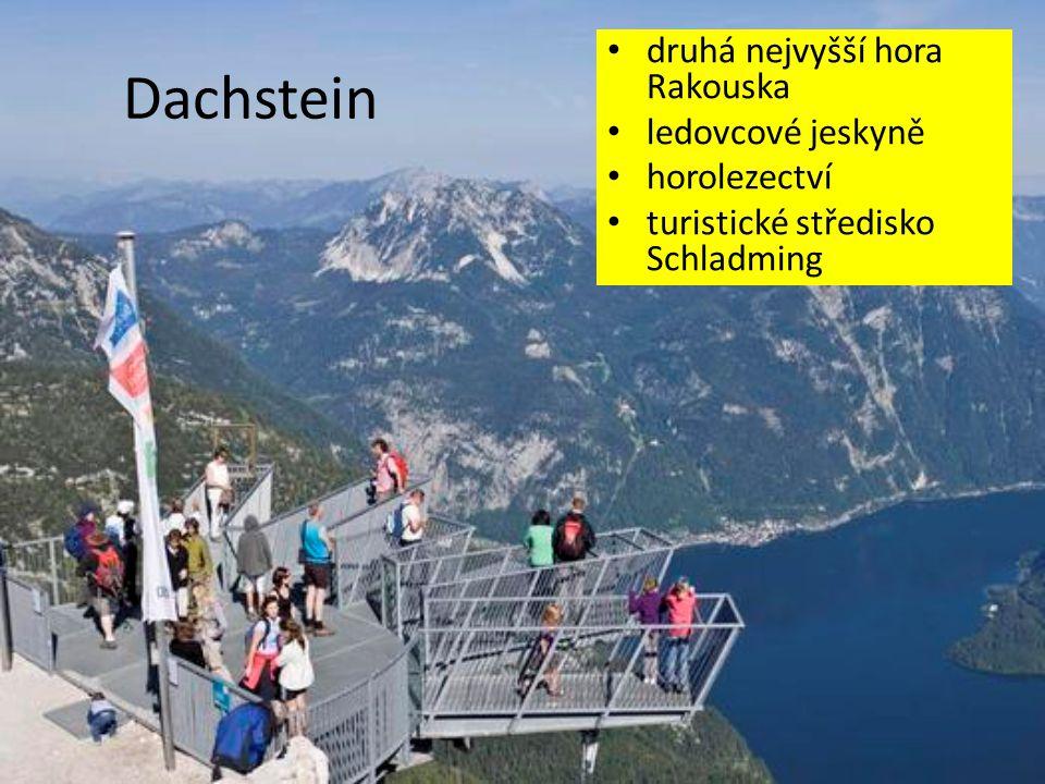 Dachstein druhá nejvyšší hora Rakouska ledovcové jeskyně horolezectví