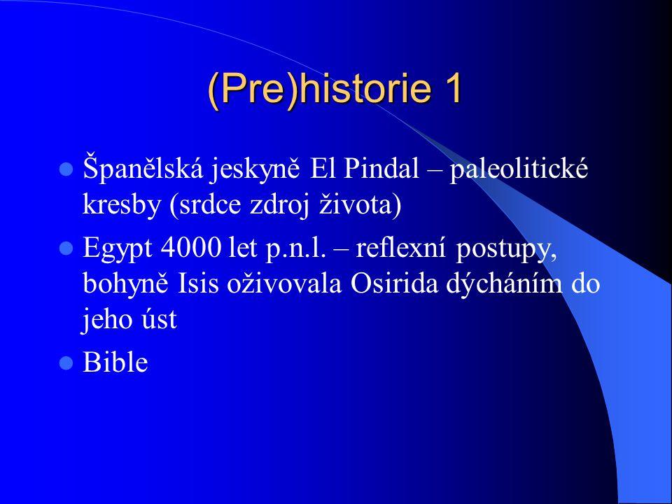 (Pre)historie 1 Španělská jeskyně El Pindal – paleolitické kresby (srdce zdroj života)