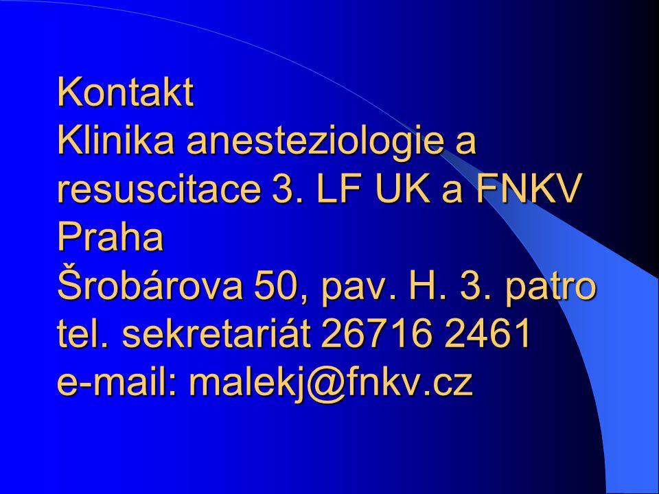 Kontakt Klinika anesteziologie a resuscitace 3
