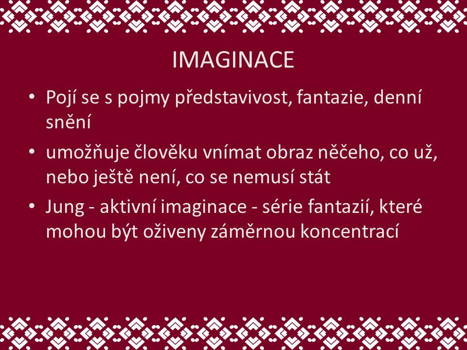IMAGINACE Pojí se s pojmy představivost, fantazie, denní snění