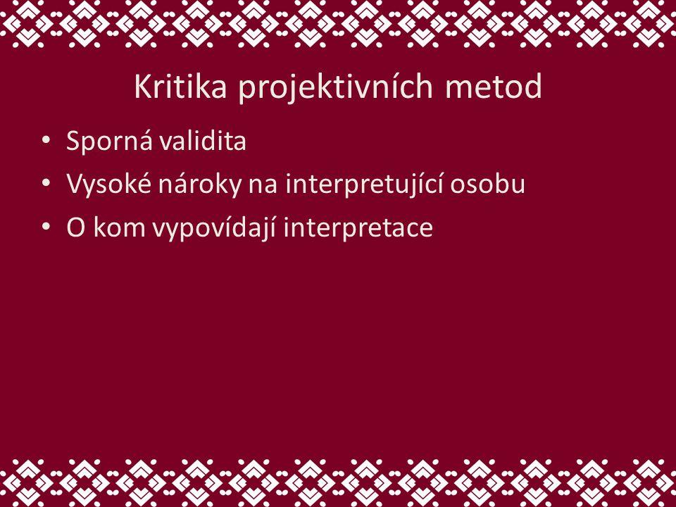 Kritika projektivních metod