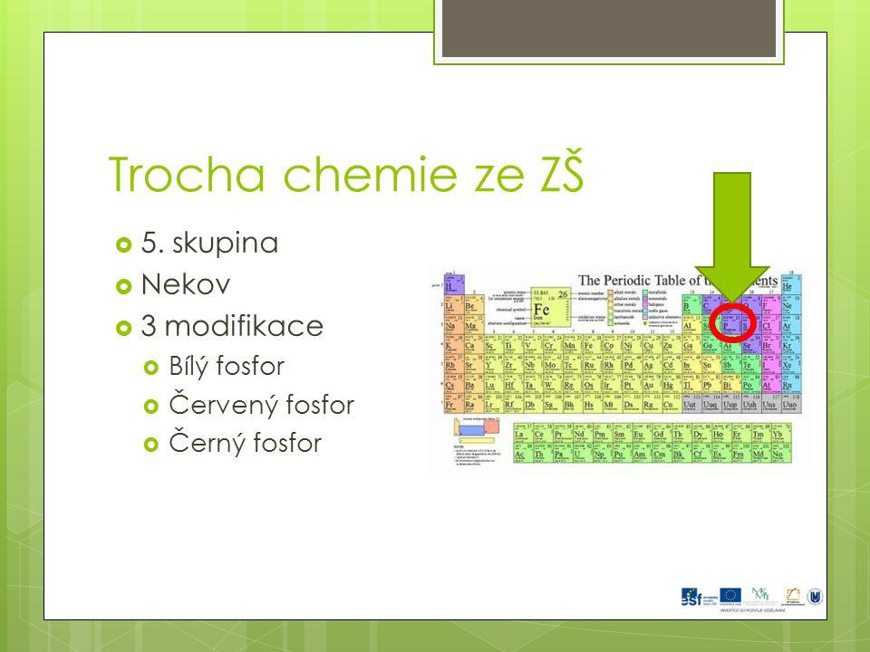 Trocha chemie ze ZŠ 5. skupina Nekov 3 modifikace Bílý fosfor