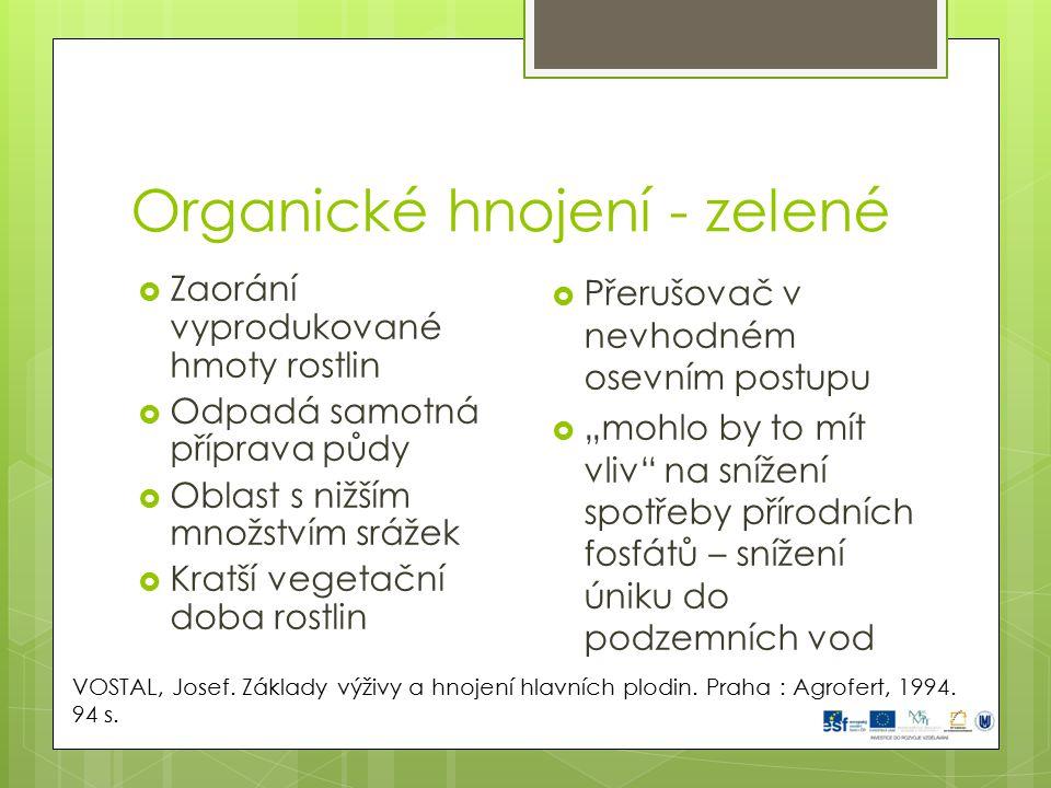 Organické hnojení - zelené