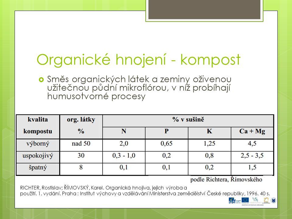 Organické hnojení - kompost