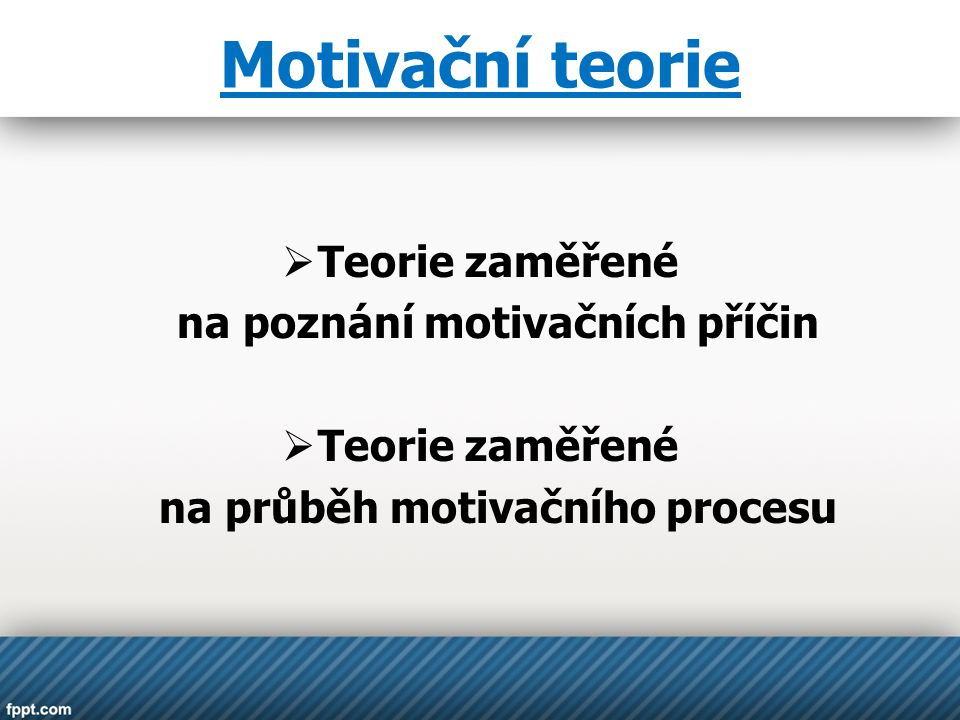 na poznání motivačních příčin