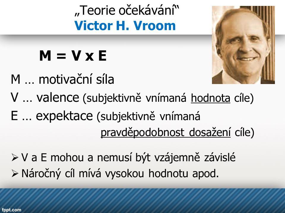 """""""Teorie očekávání Victor H. Vroom"""