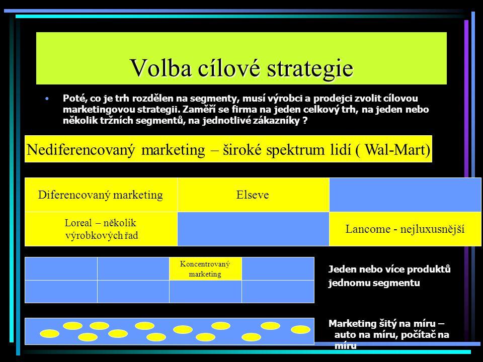 Volba cílové strategie