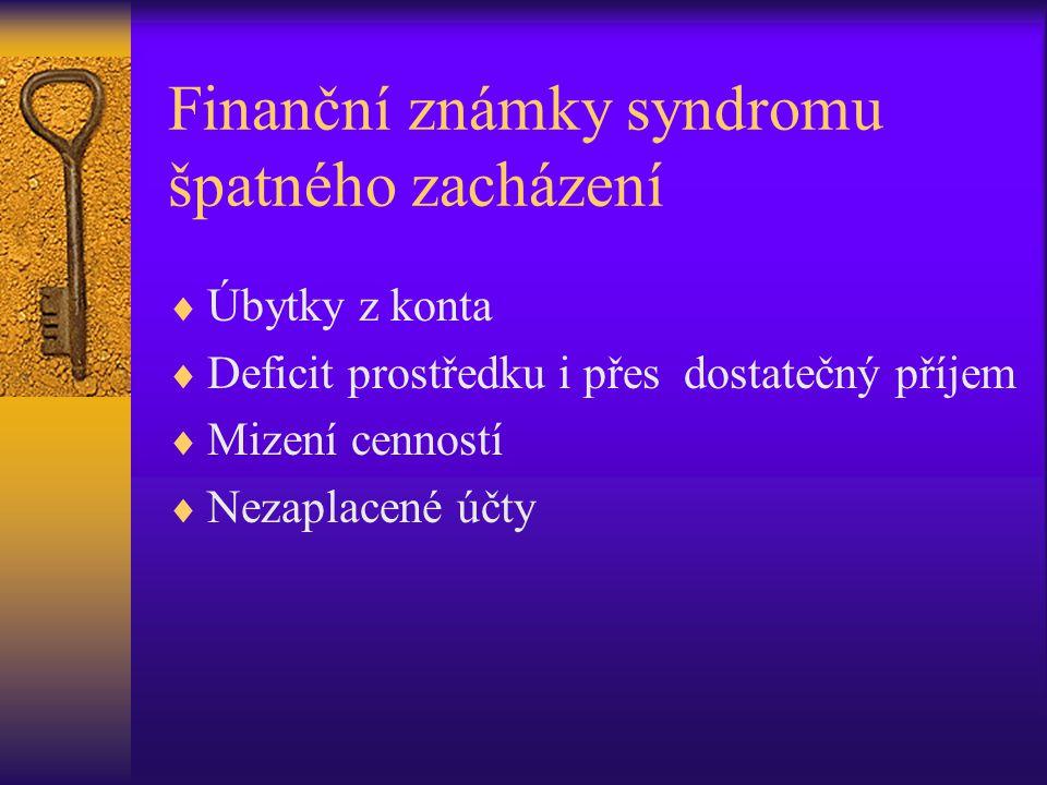 Finanční známky syndromu špatného zacházení