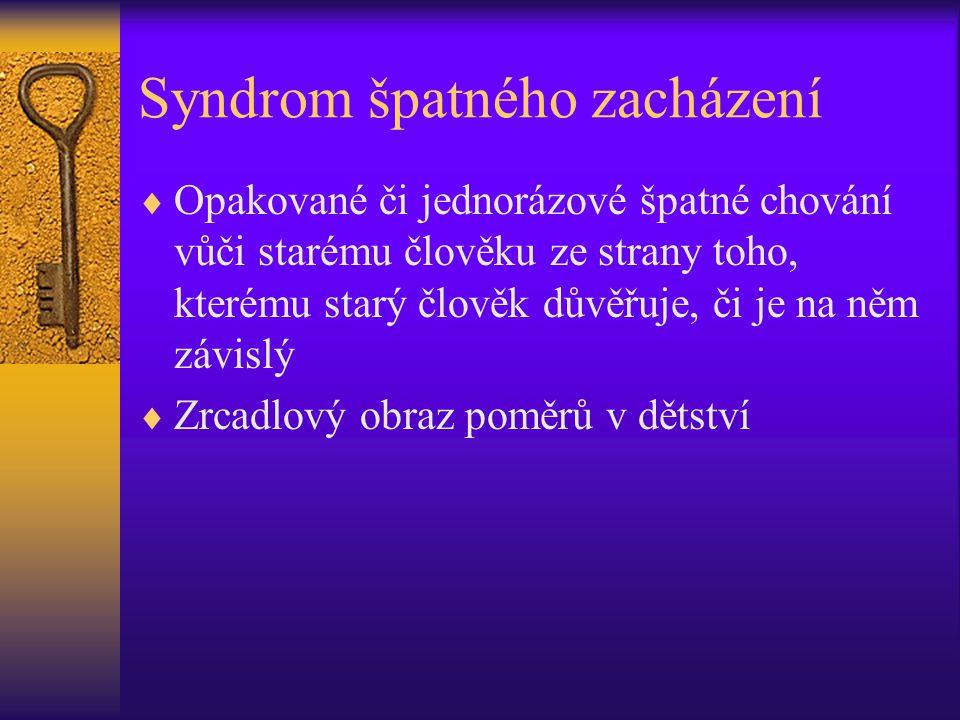 Syndrom špatného zacházení