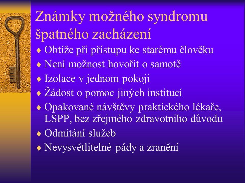 Známky možného syndromu špatného zacházení