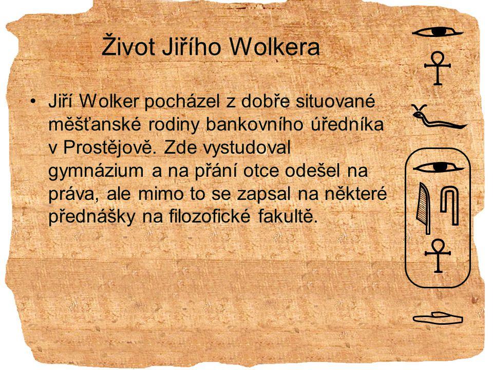 Život Jiřího Wolkera