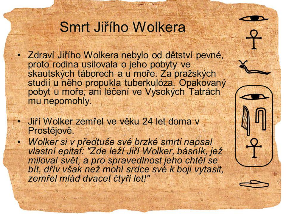 Smrt Jiřího Wolkera