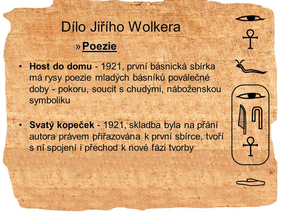 Dílo Jiřího Wolkera Poezie