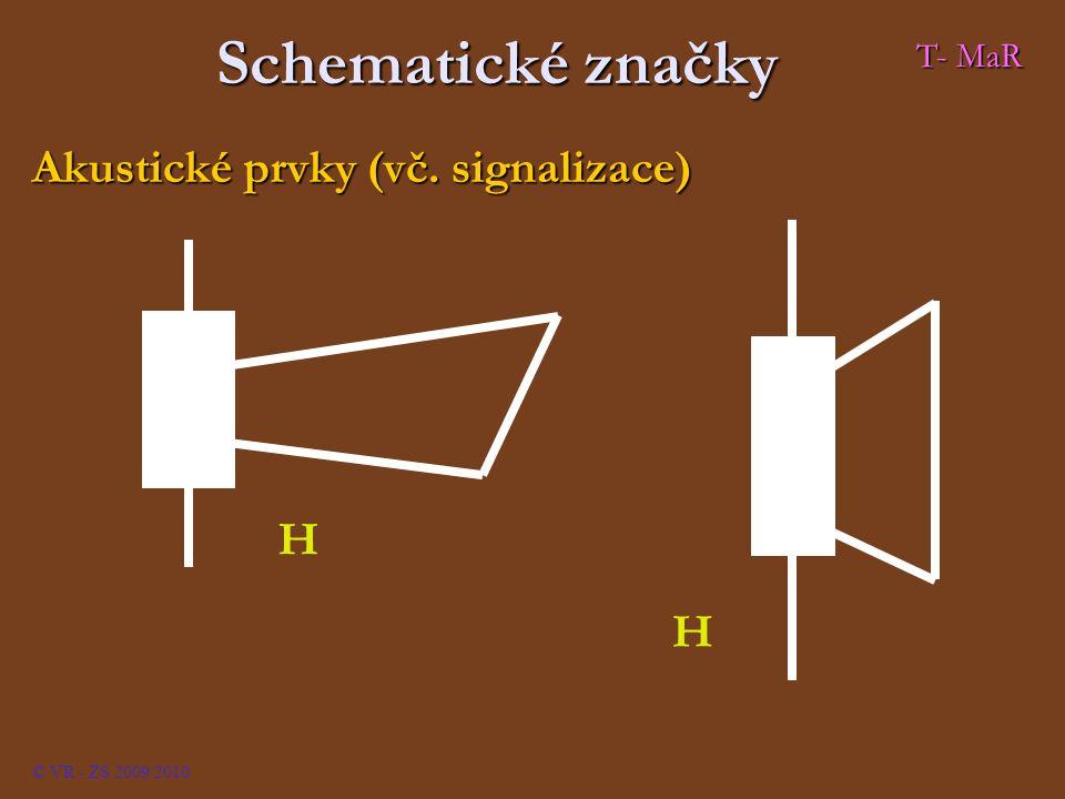Schematické značky Akustické prvky (vč. signalizace) H T- MaR