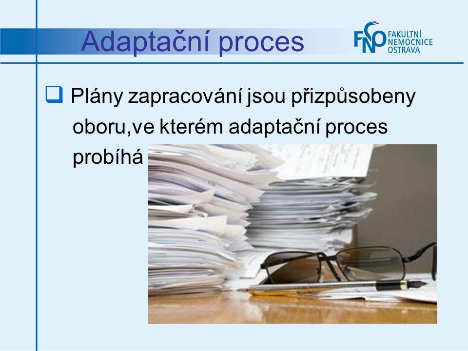 Adaptační proces Plány zapracování jsou přizpůsobeny