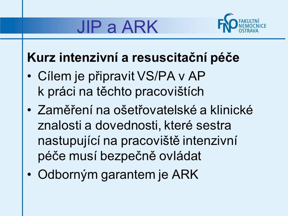 JIP a ARK Kurz intenzivní a resuscitační péče