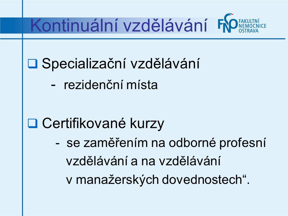 Kontinuální vzdělávání