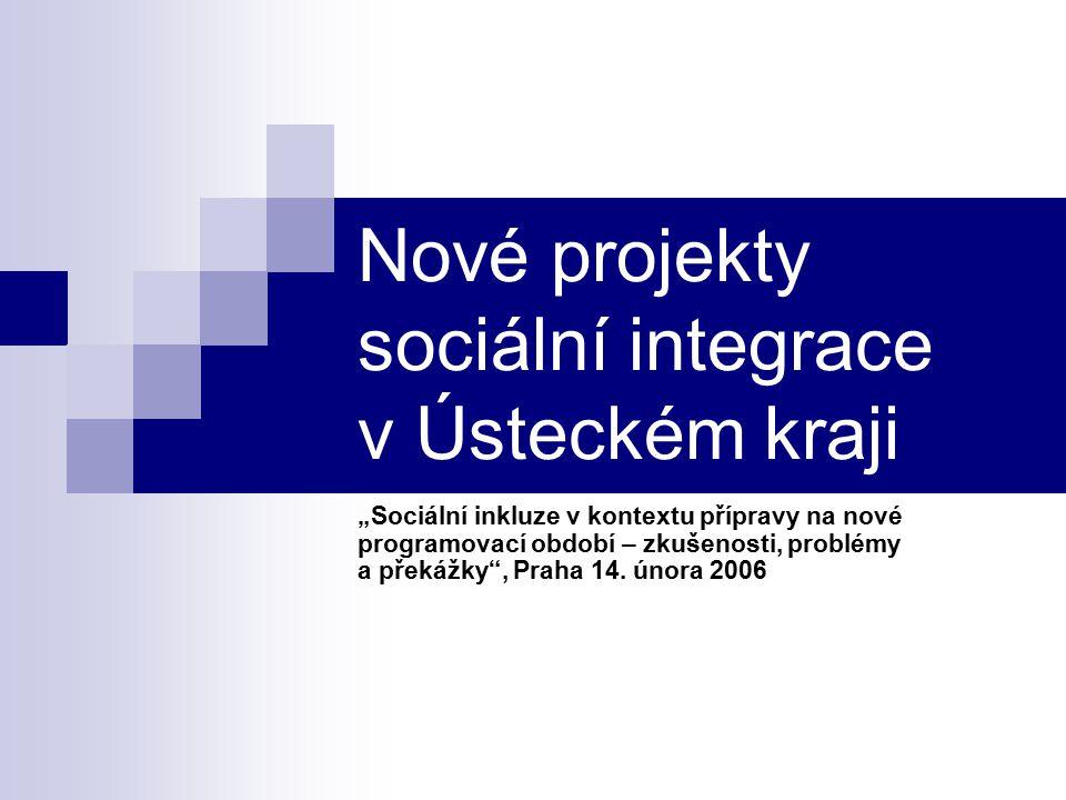 Nové projekty sociální integrace v Ústeckém kraji