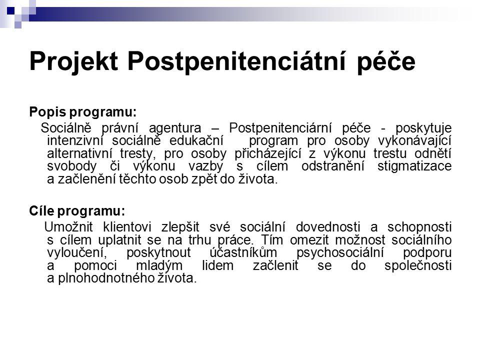 Projekt Postpenitenciátní péče