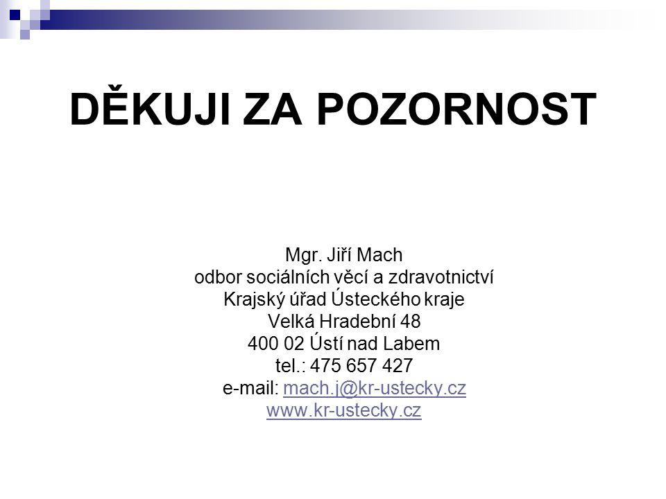 DĚKUJI ZA POZORNOST Mgr. Jiří Mach