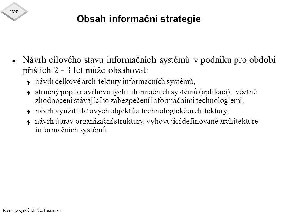Obsah informační strategie