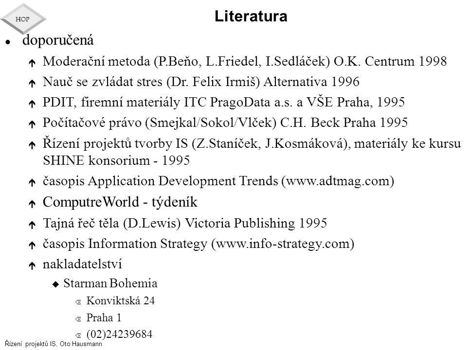 Literatura doporučená ComputreWorld - týdeník