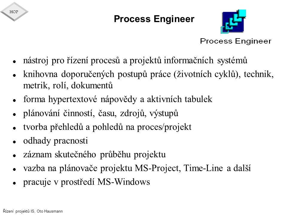Process Engineer nástroj pro řízení procesů a projektů informačních systémů.