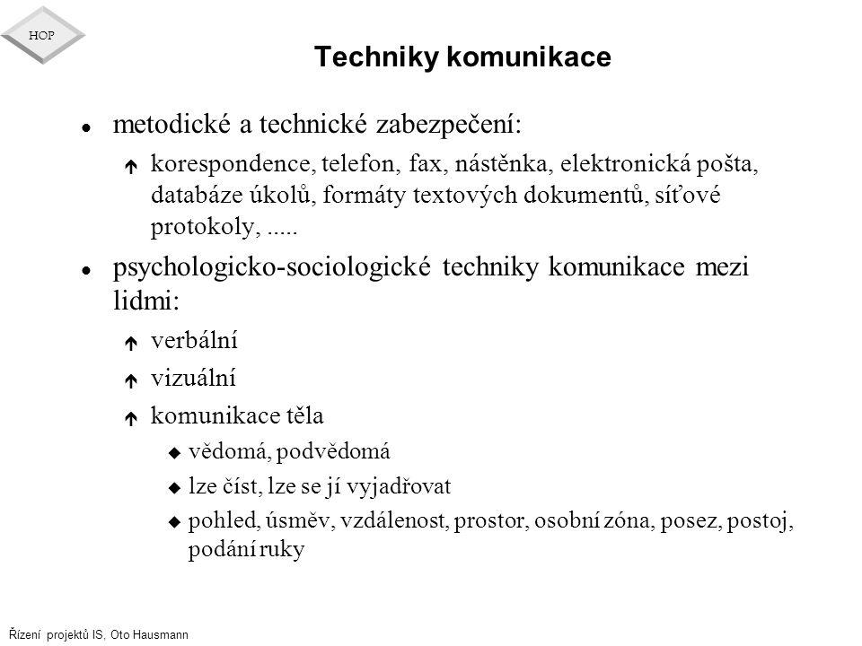 metodické a technické zabezpečení:
