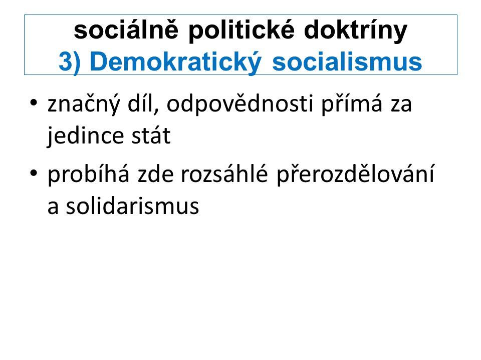 sociálně politické doktríny 3) Demokratický socialismus