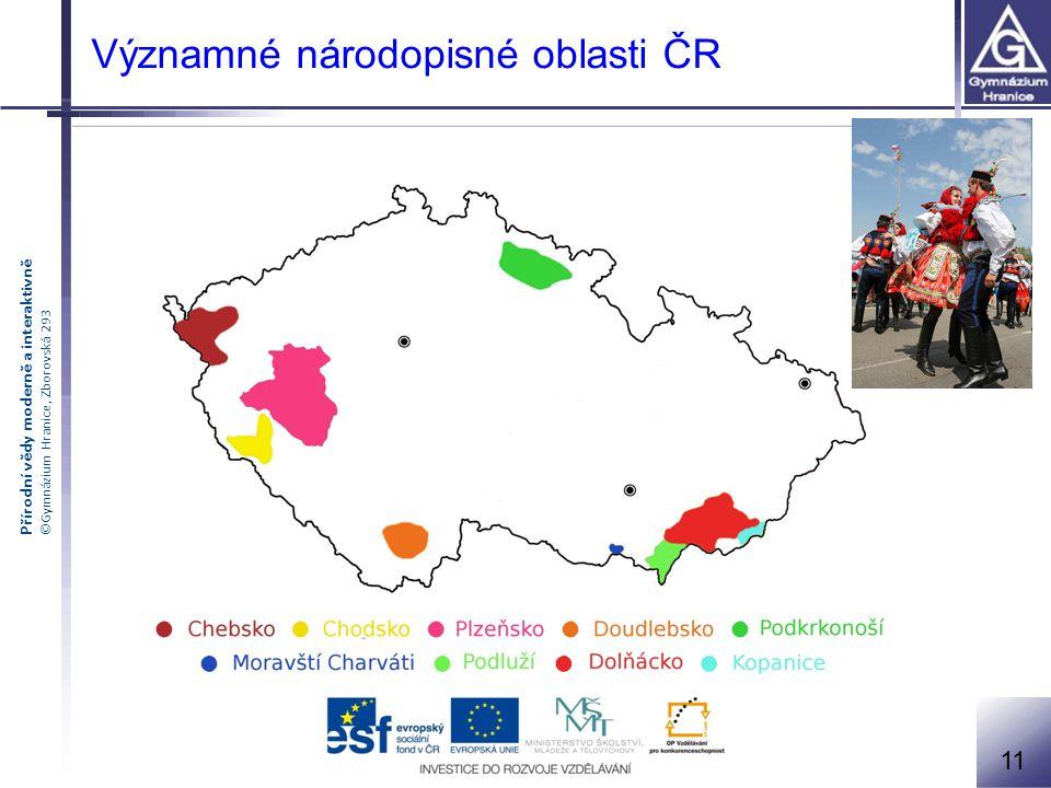 Významné národopisné oblasti ČR