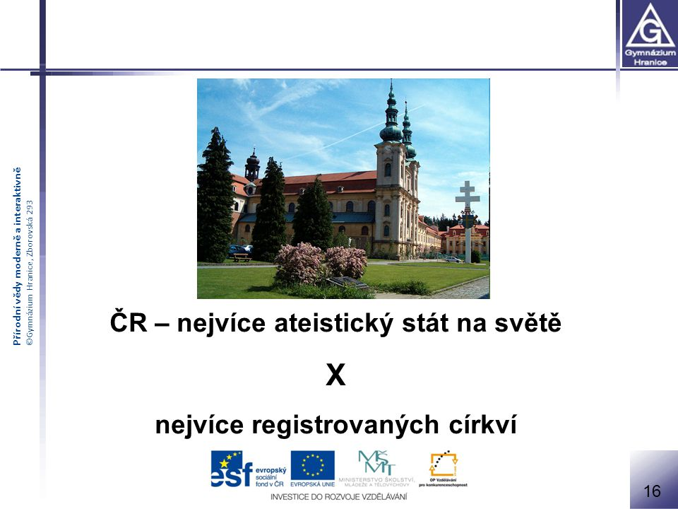 ČR – nejvíce ateistický stát na světě nejvíce registrovaných církví