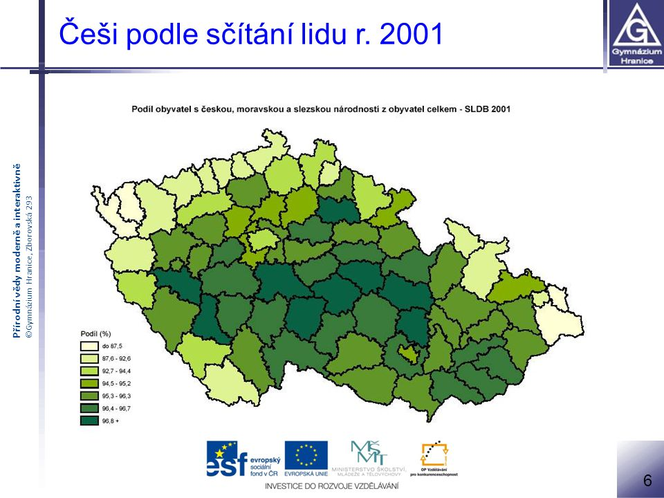 Češi podle sčítání lidu r. 2001