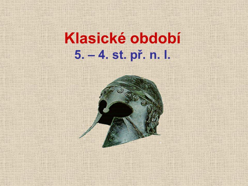 Klasické období 5. – 4. st. př. n. l.