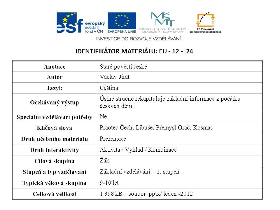 Identifikátor materiálu: EU - 12 - 24