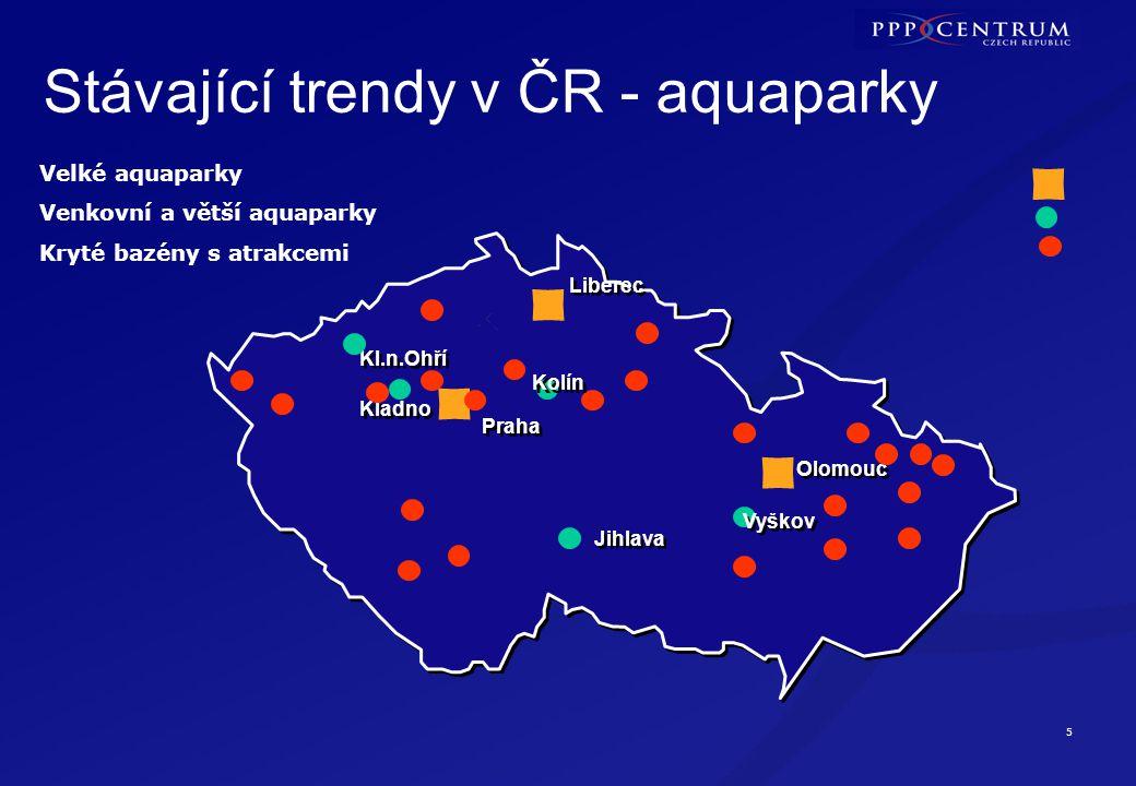 Aquaparky v ČR - pozitiva