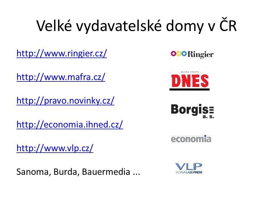 Velké vydavatelské domy v ČR