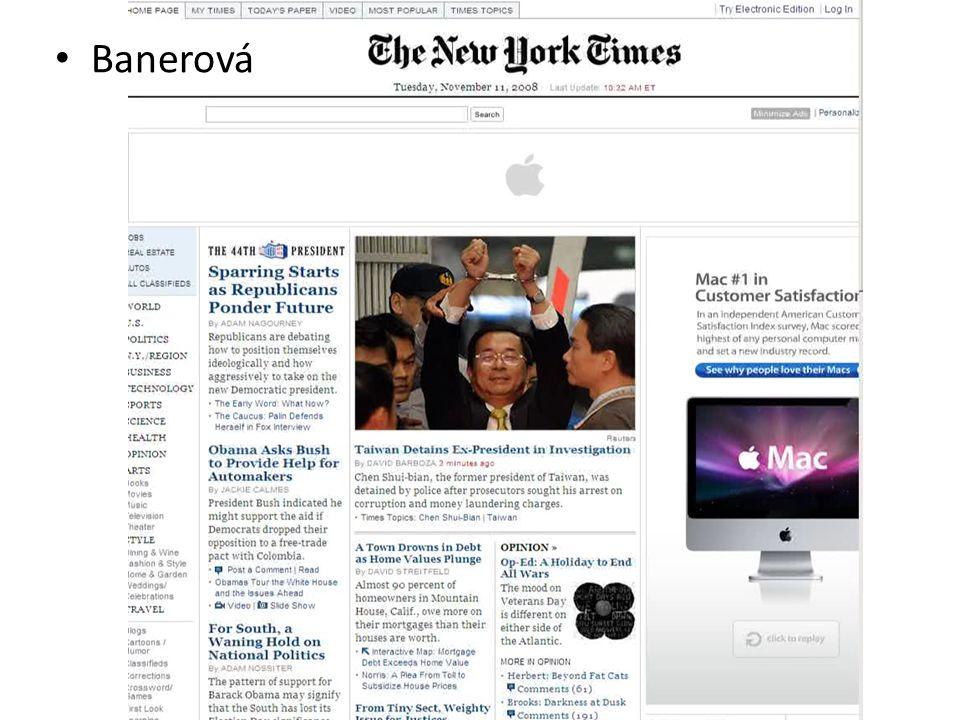 Webová reklama Banerová