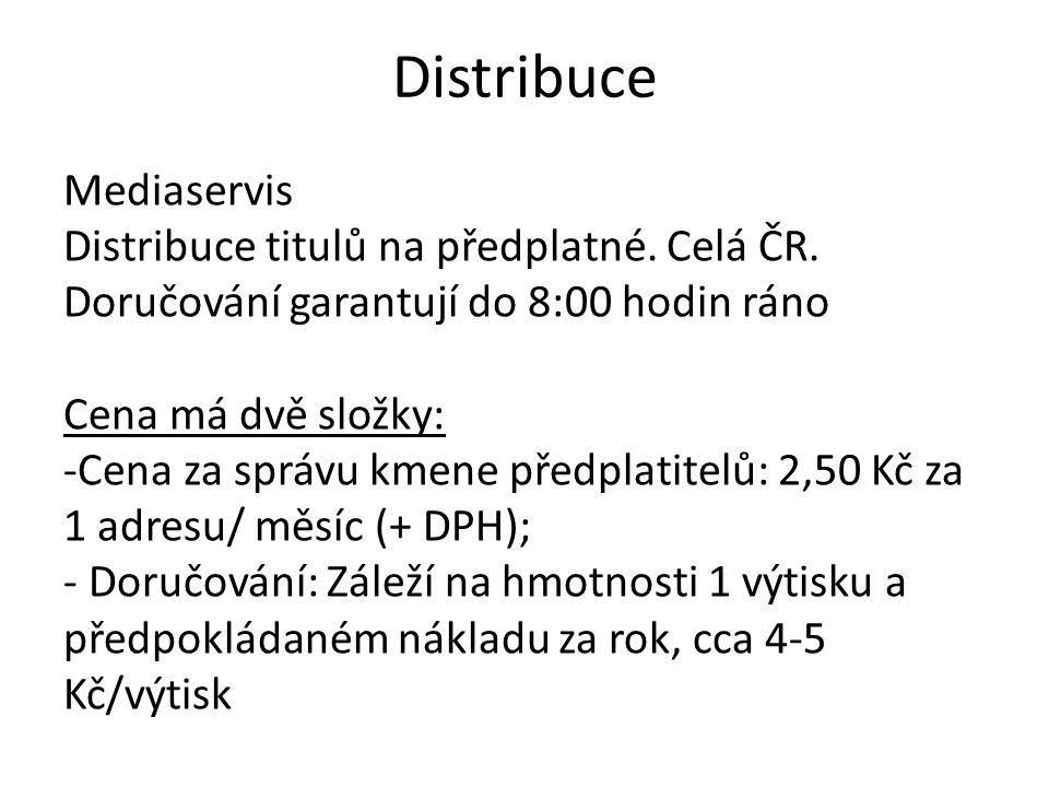 Distribuce Mediaservis Distribuce titulů na předplatné. Celá ČR.