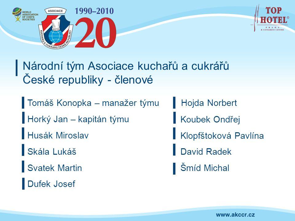 Národní tým Asociace kuchařů a cukrářů České republiky - členové