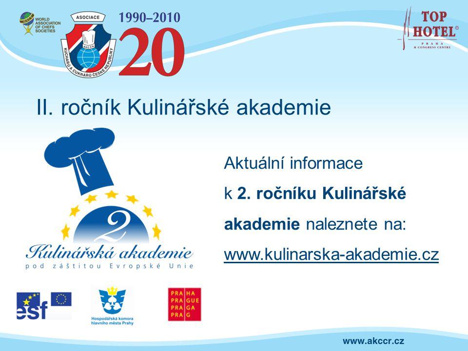 II. ročník Kulinářské akademie