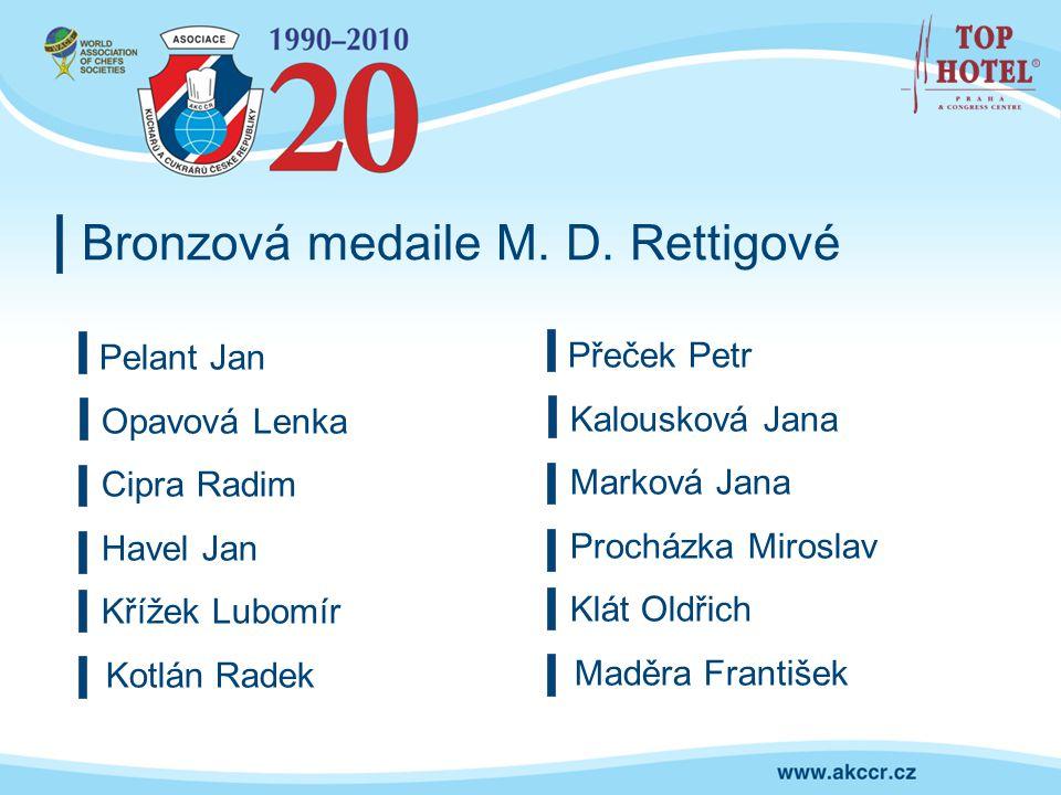 Bronzová medaile M. D. Rettigové